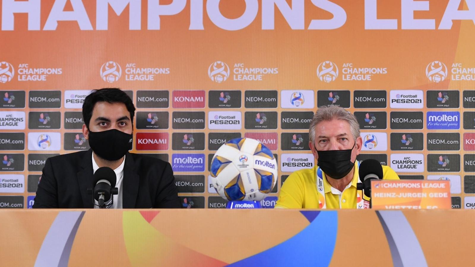 HLV Jurgen Gede nói gì khi Viettel FC hẹp dần cánh cửa đi tiếp ở AFC Champions League?