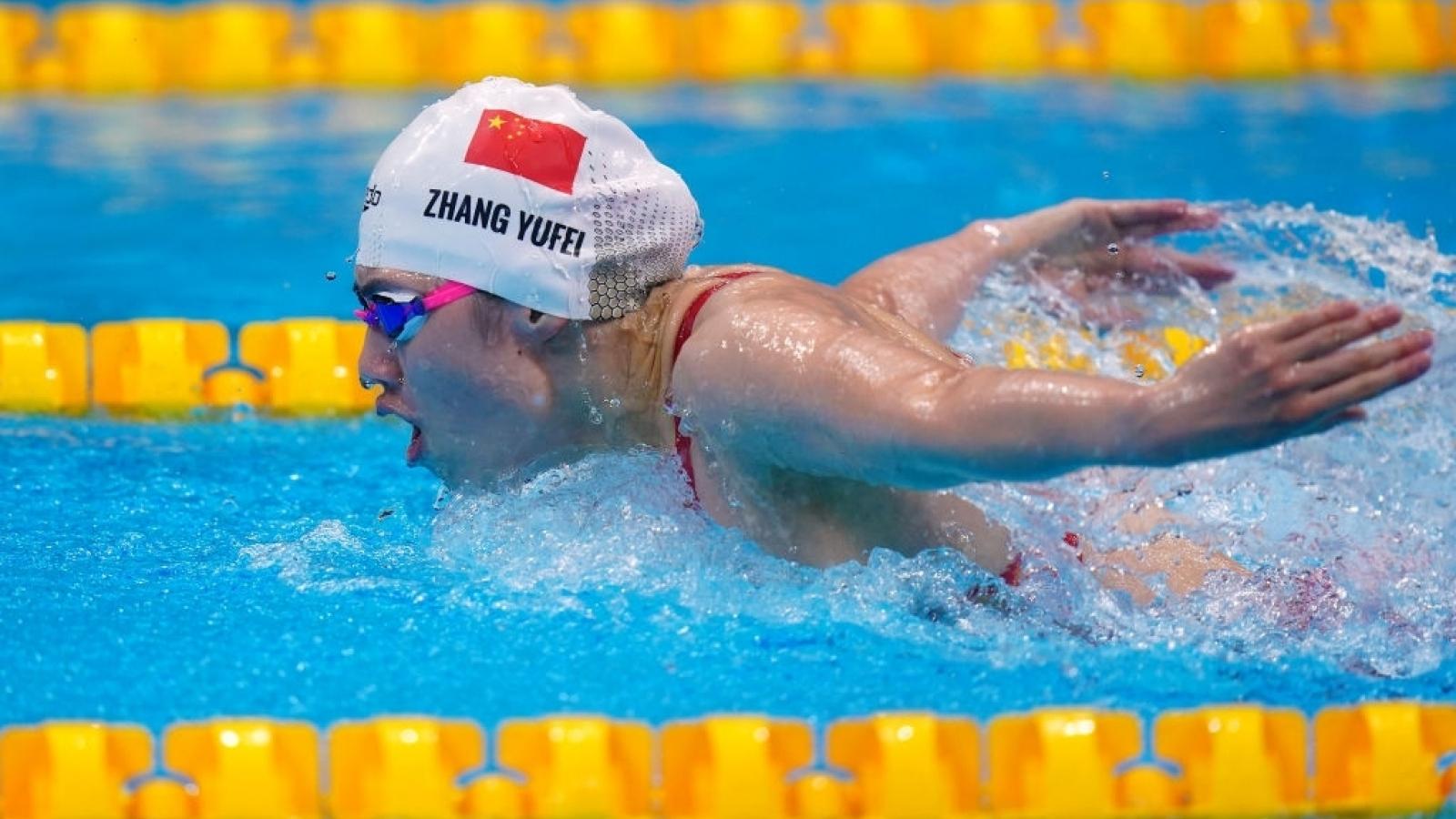 Nữ kình ngư người Trung Quốc giành HCV và phá kỷ lục Olympic