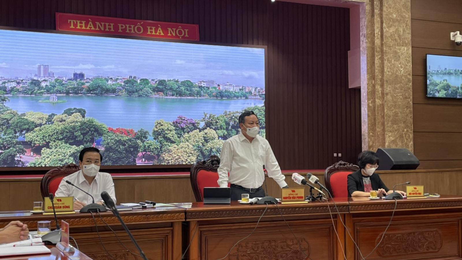 Thường trực Thành ủy Hà Nội đồng ý tiếp tục giãn cách xã hội đến 6/9