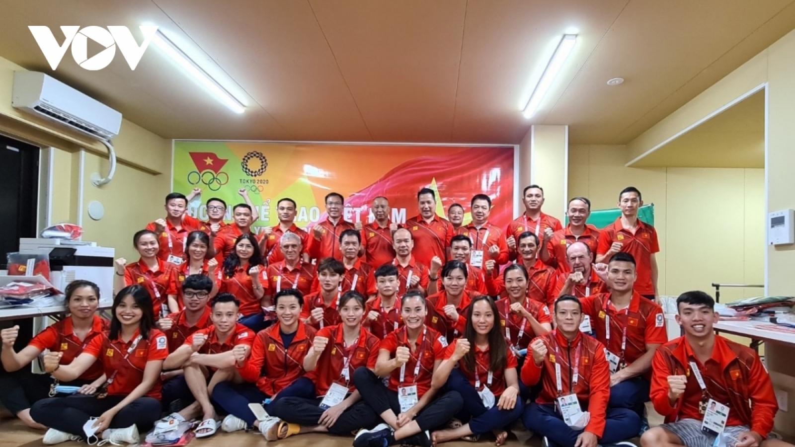 Đoàn Thể thao Việt Nam dự Olympic Tokyo về nước vào ngày mai 4/8