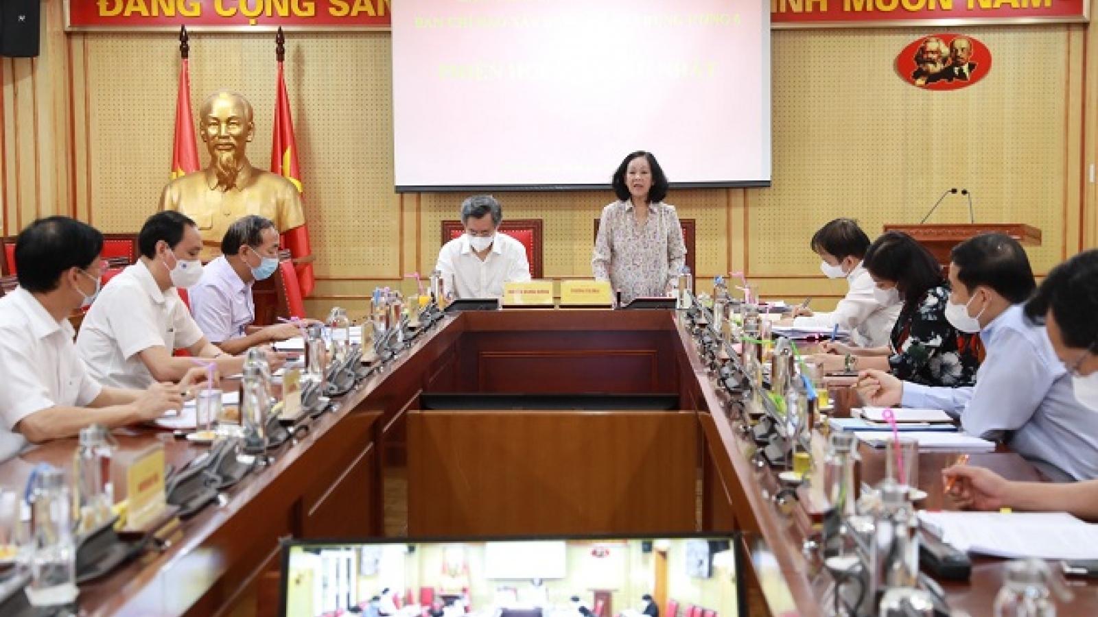 Xây dựng đề án trình Hội nghị Trung ương 6 khóa XIII