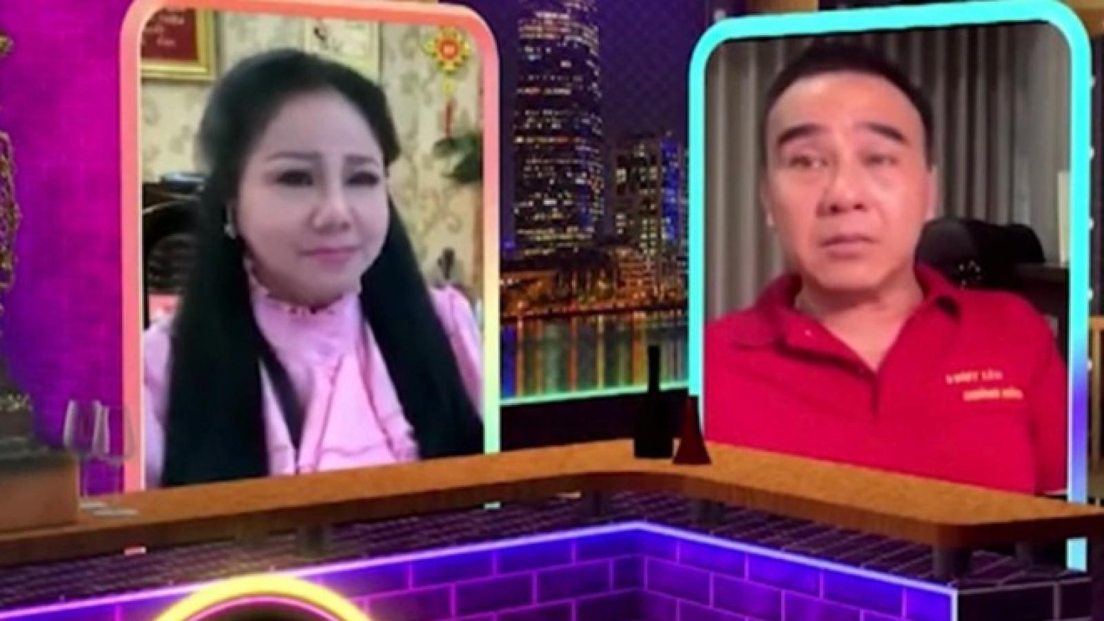 Chuyện showbiz: Quyền Linh bật khóc trên sóng vì thương TP.HCM