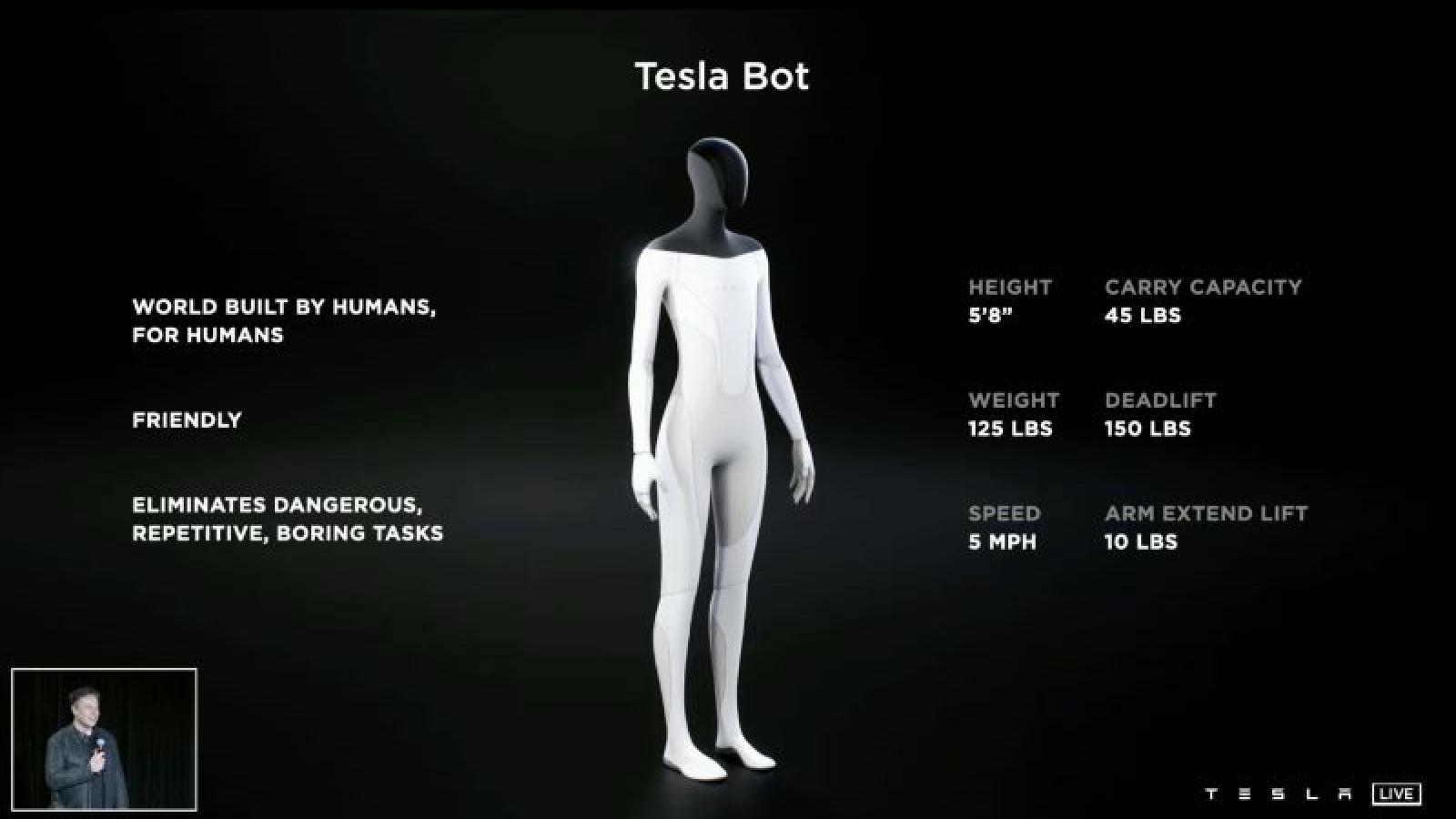 Tesla chuẩn bị ra mắt robot AI hình dạng người