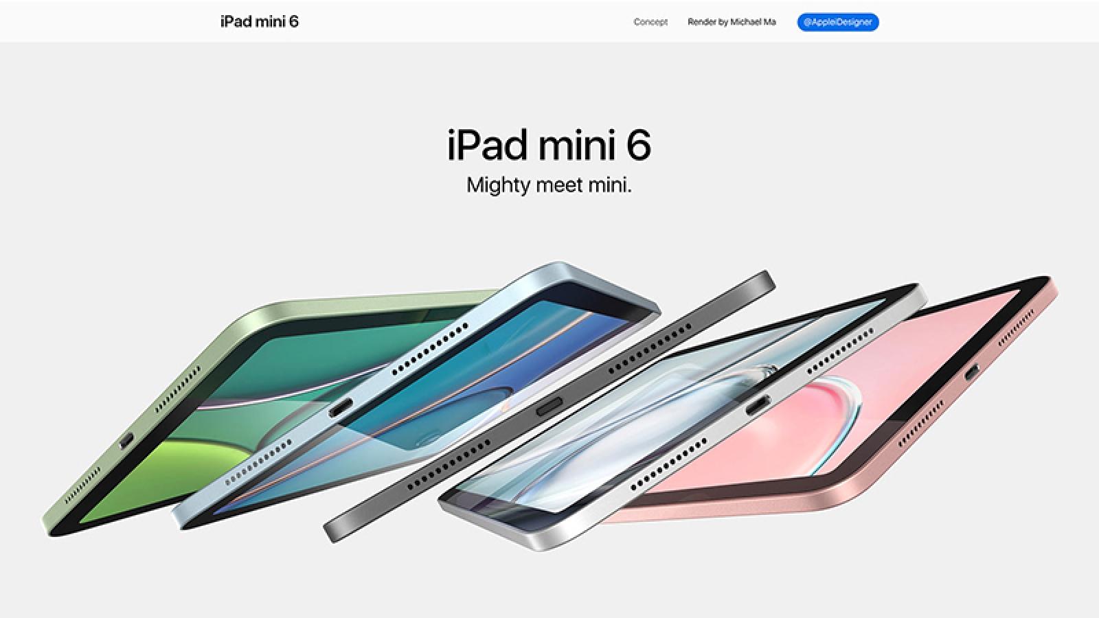 iPad mini 6 lộ diện thông số kỹ thuật và màu sắc