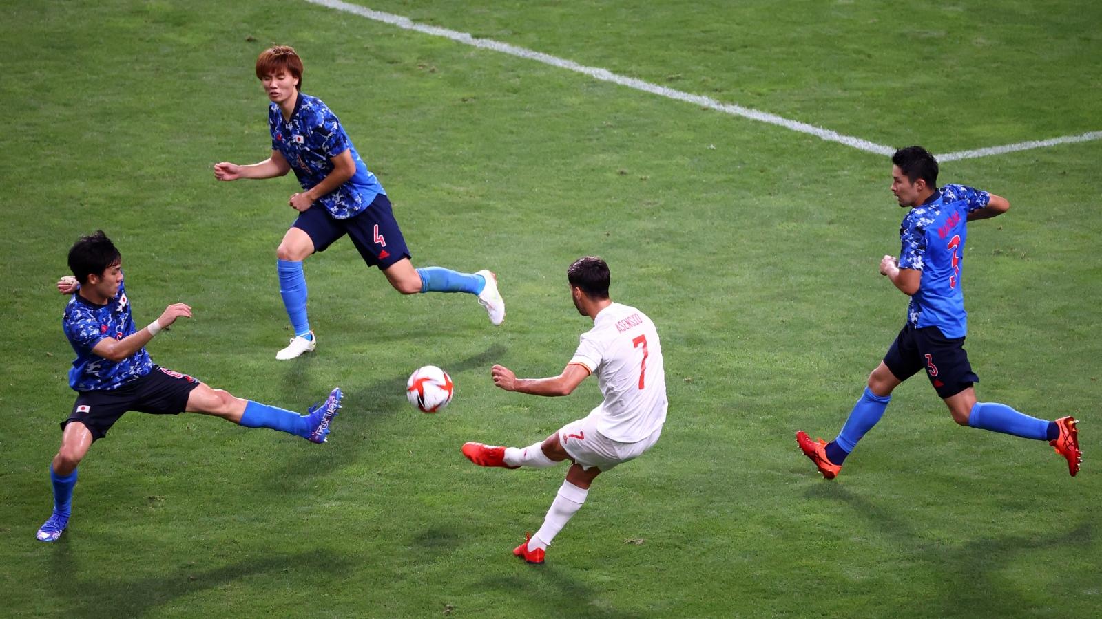 Thủng lưới vì siêu phẩm của Asensio phút 115, Nhật Bản gục ngã trước cánh cửa thiên đường