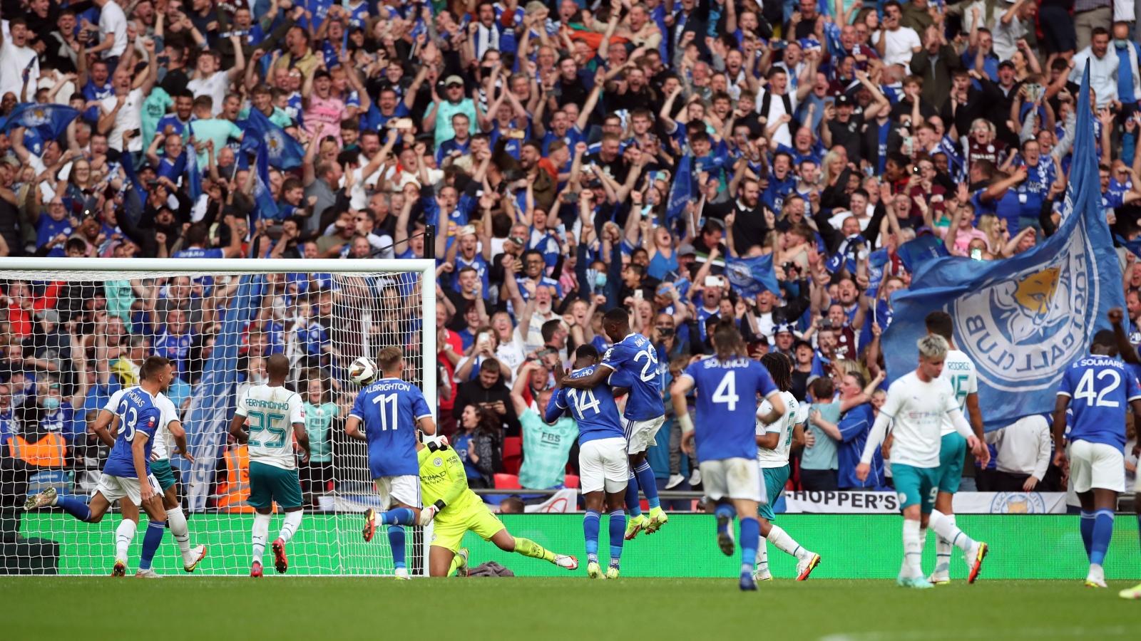 Ghi bàn kịch tính phút 89, Leicester City đả bại Man City để giành Siêu cúp Anh