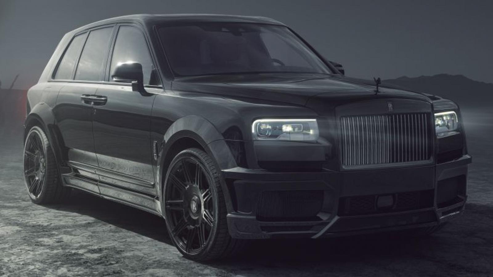 Rolls-Royce Cullinan Black Badge hầm hố hơn với gói độ thân rộng