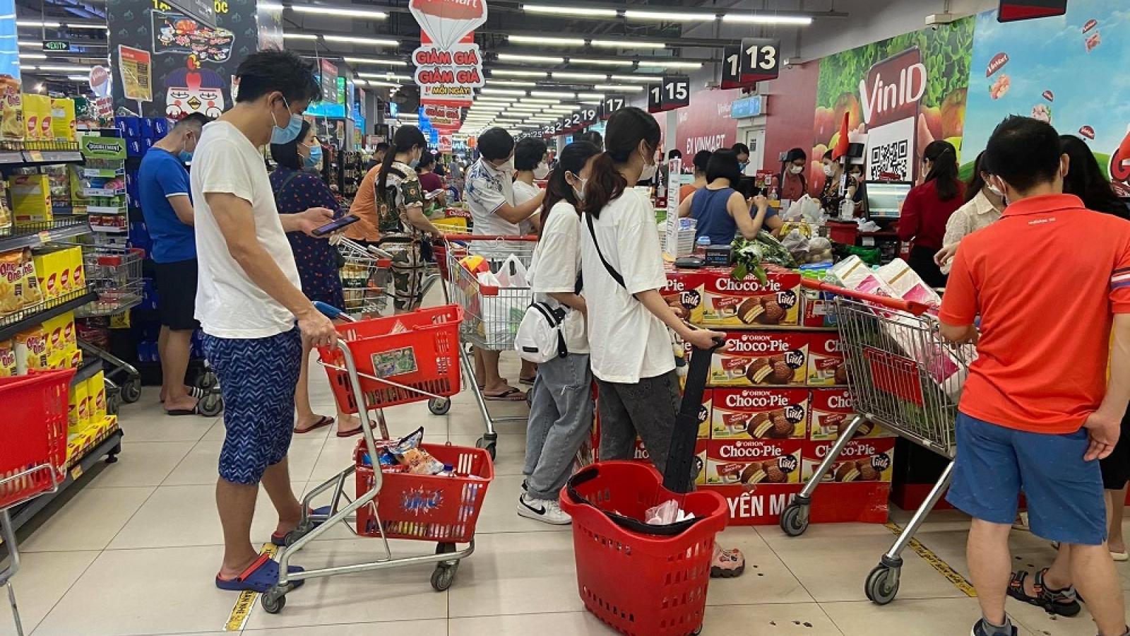 Chỉ số giá tiêu dùng tháng 8 tăng 0,25%