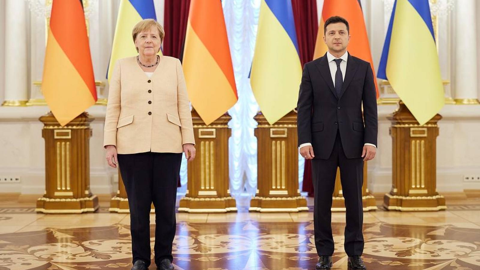 Thủ tướng Đức và Tổng thống Ukrainehội đàm giải quyết tình hình Donbass