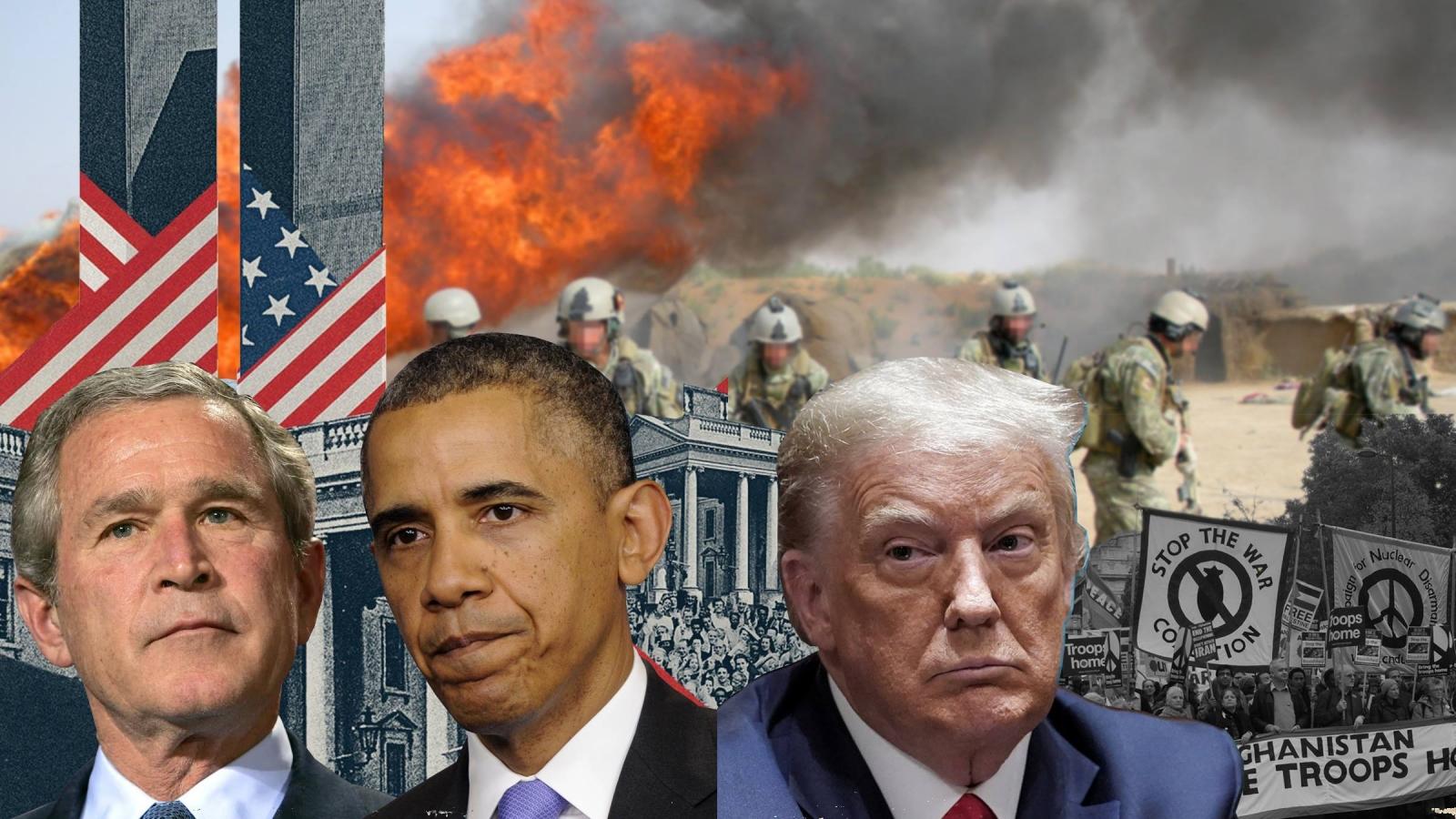 Cạm bẫy Afghanistan và vị đắng của một cuộc chiến trải qua 3 đời tổng thống Mỹ