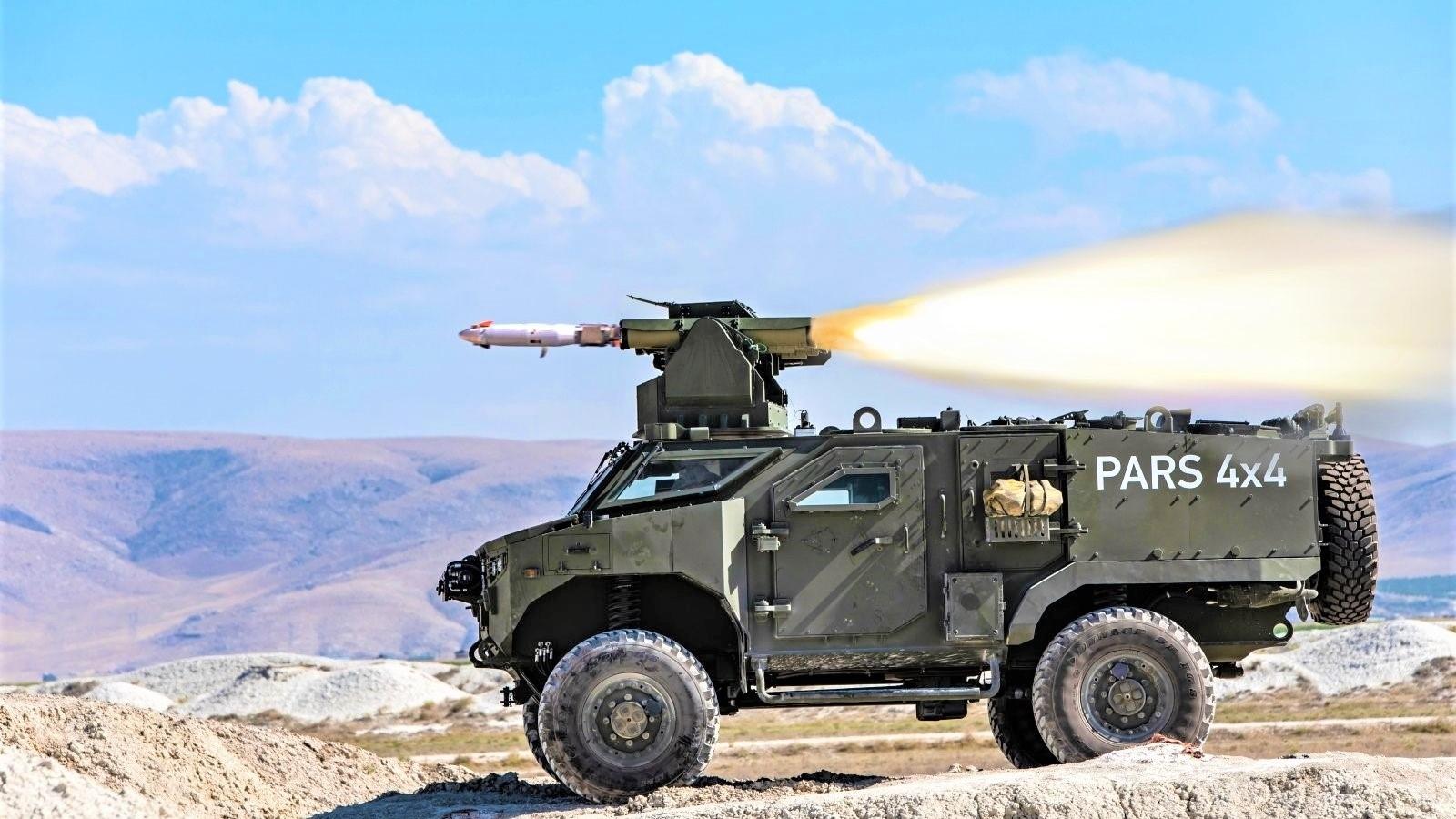 Xe PARS 4x4 chống tăng của Thổ Nhĩ Kỳ đang thu hút sự quan tâm lớn của giới chuyên gia