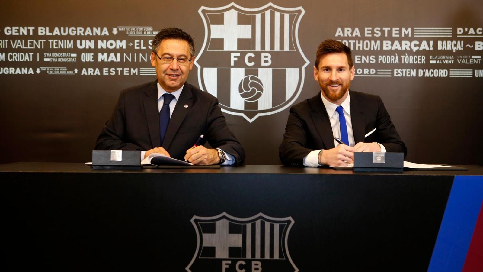 Barca tự tin sẽ gia hạn hợp đồng thành công với Messi