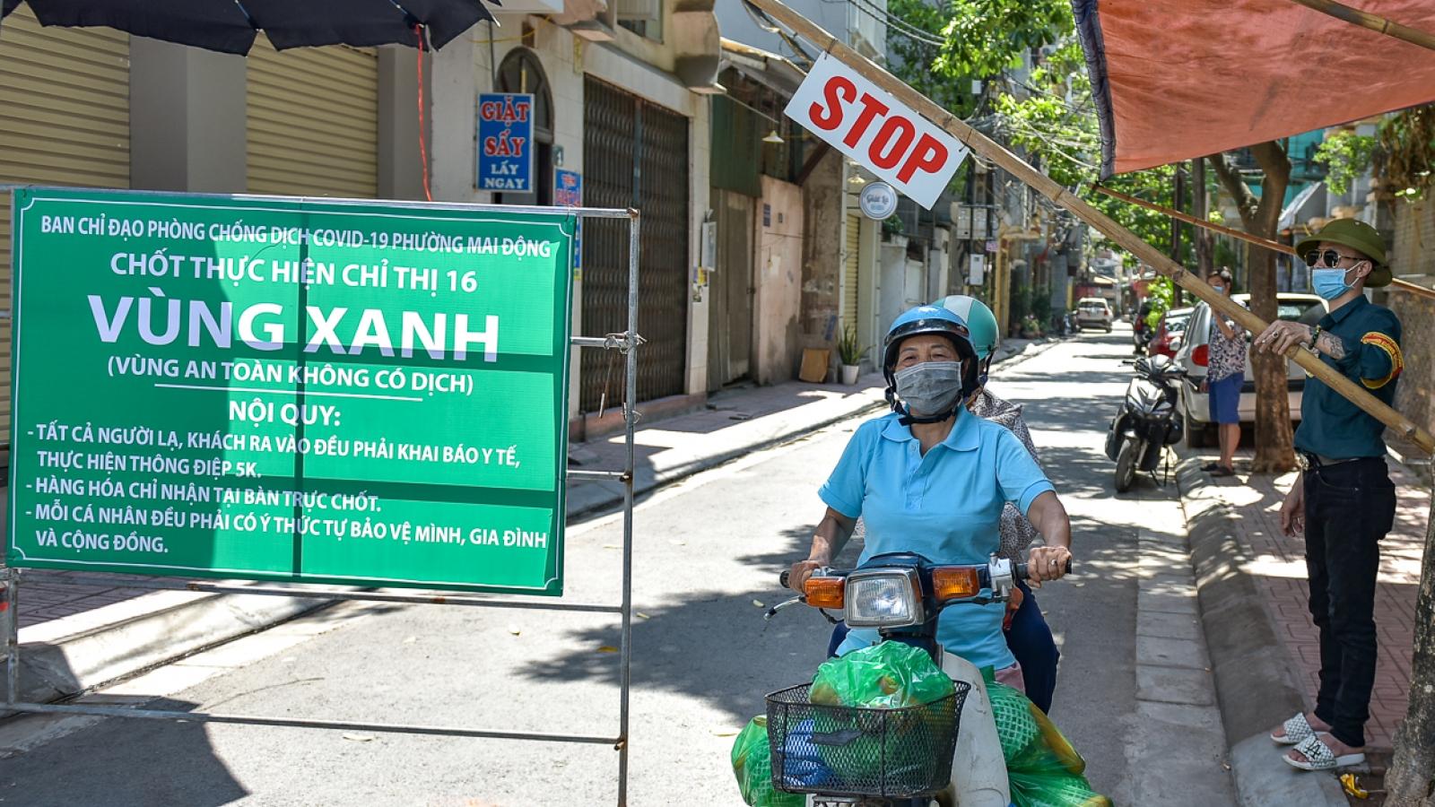 """""""Vùng xanh"""" – vùng an toàn với dịch Covid-19 đầu tiên đã xuất hiện ở Hà Nội"""
