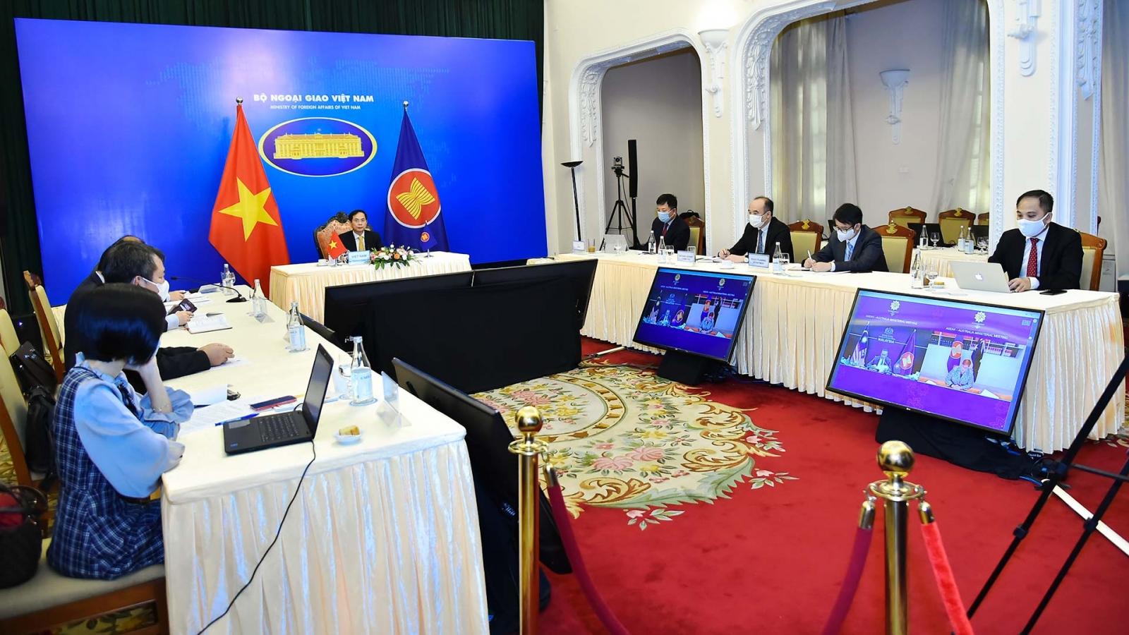 ASEAN và Australia tiếp tục ưu tiên phối hợp kiểm soát hiệu quả COVID-19