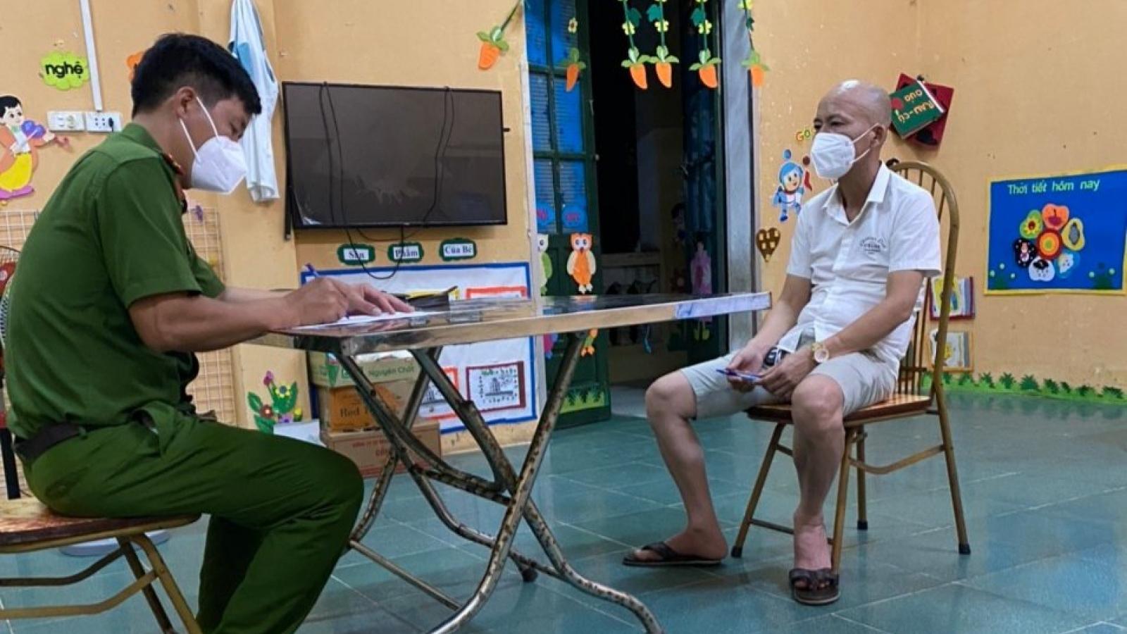 Đã truy tìm được đối tượng bỏ trốn khỏi khu cách ly tập trung tại Bắc Giang
