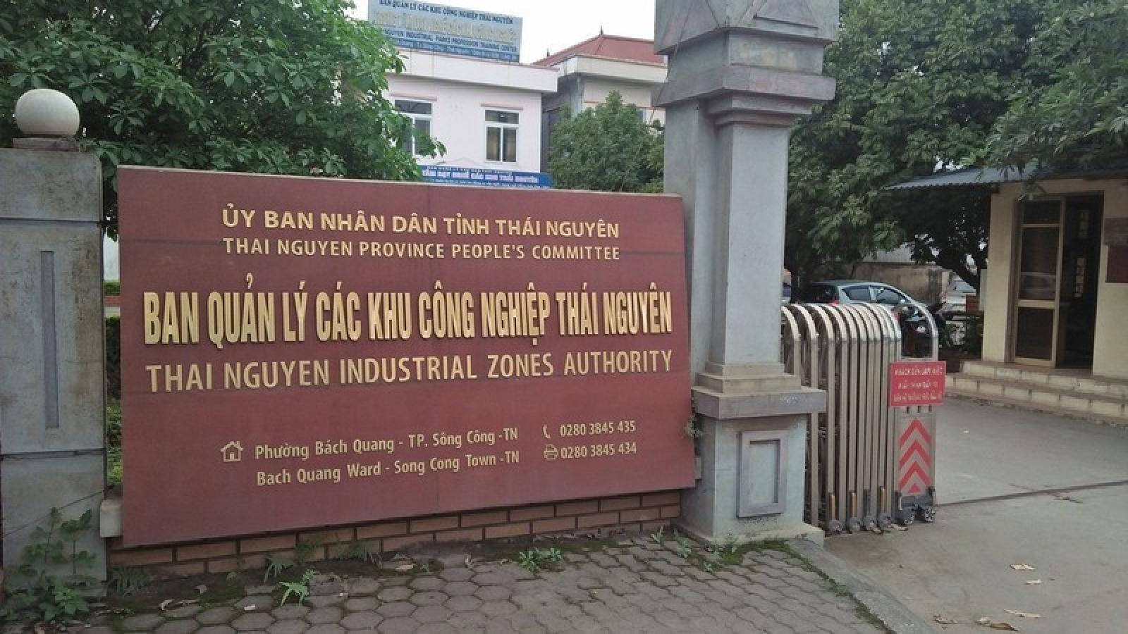 Đề nghị kỷ luật nguyên Bí thư Đảng ủy các KCN Thái Nguyên