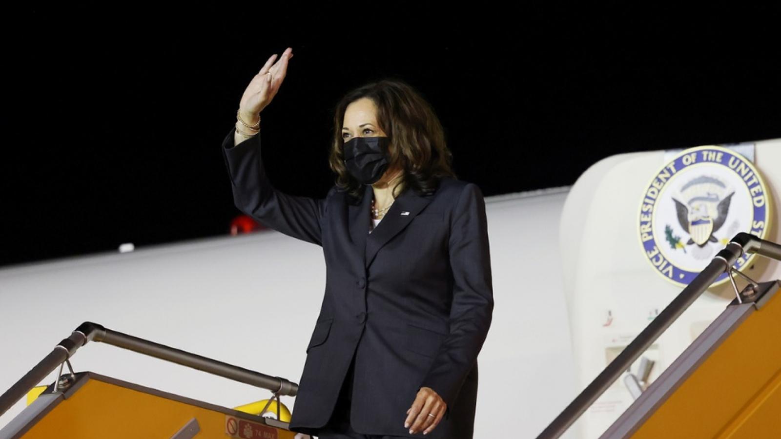 US VP Harris arrives in Hanoi for three-day visit