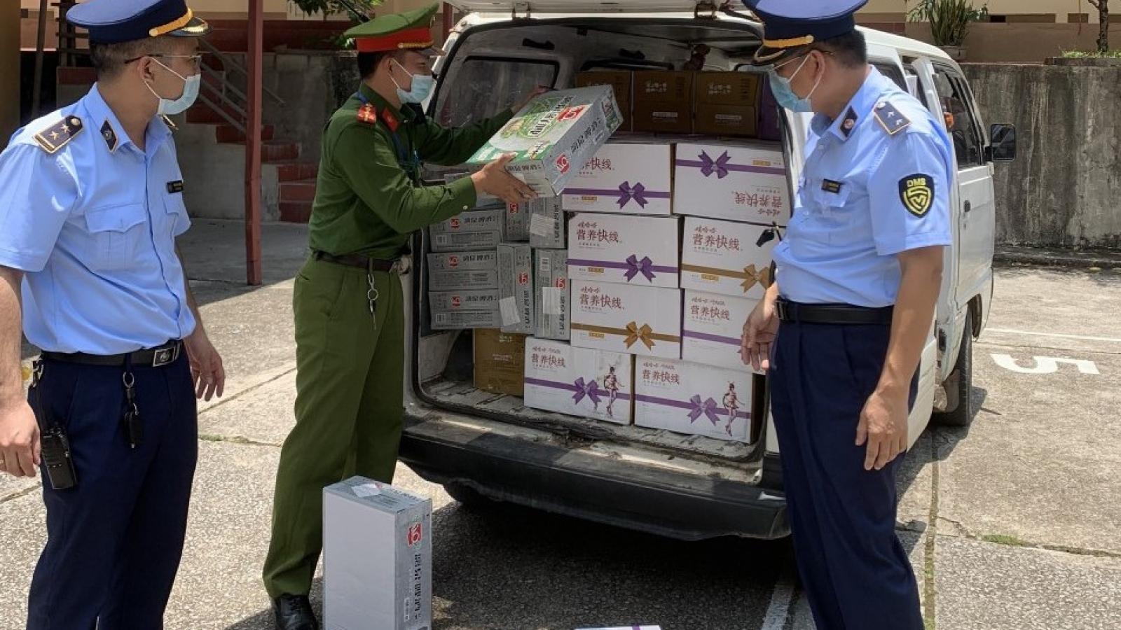 Lạng Sơn tạm giữ gần 900 sản phẩm bia, sữa chua nhập lậu