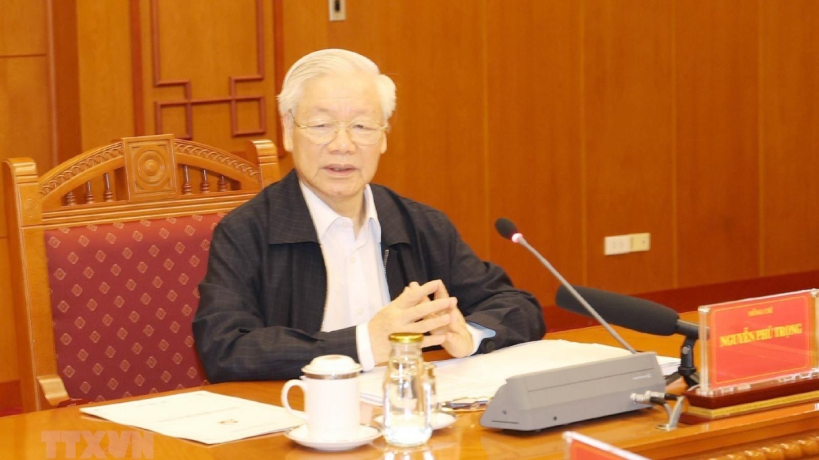 Hômnay, Tổng Bí thư chủ trì phiên họp Ban Chỉ đạo phòng, chống tham nhũng