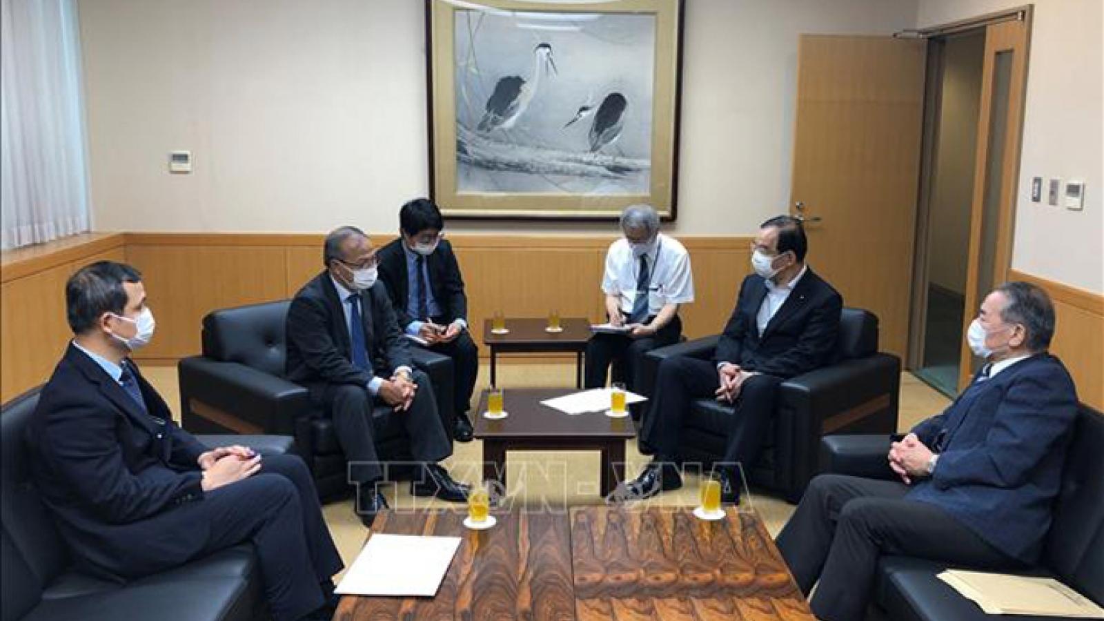 Japan Party leader commends Vietnam's COVID-19 combat efforts