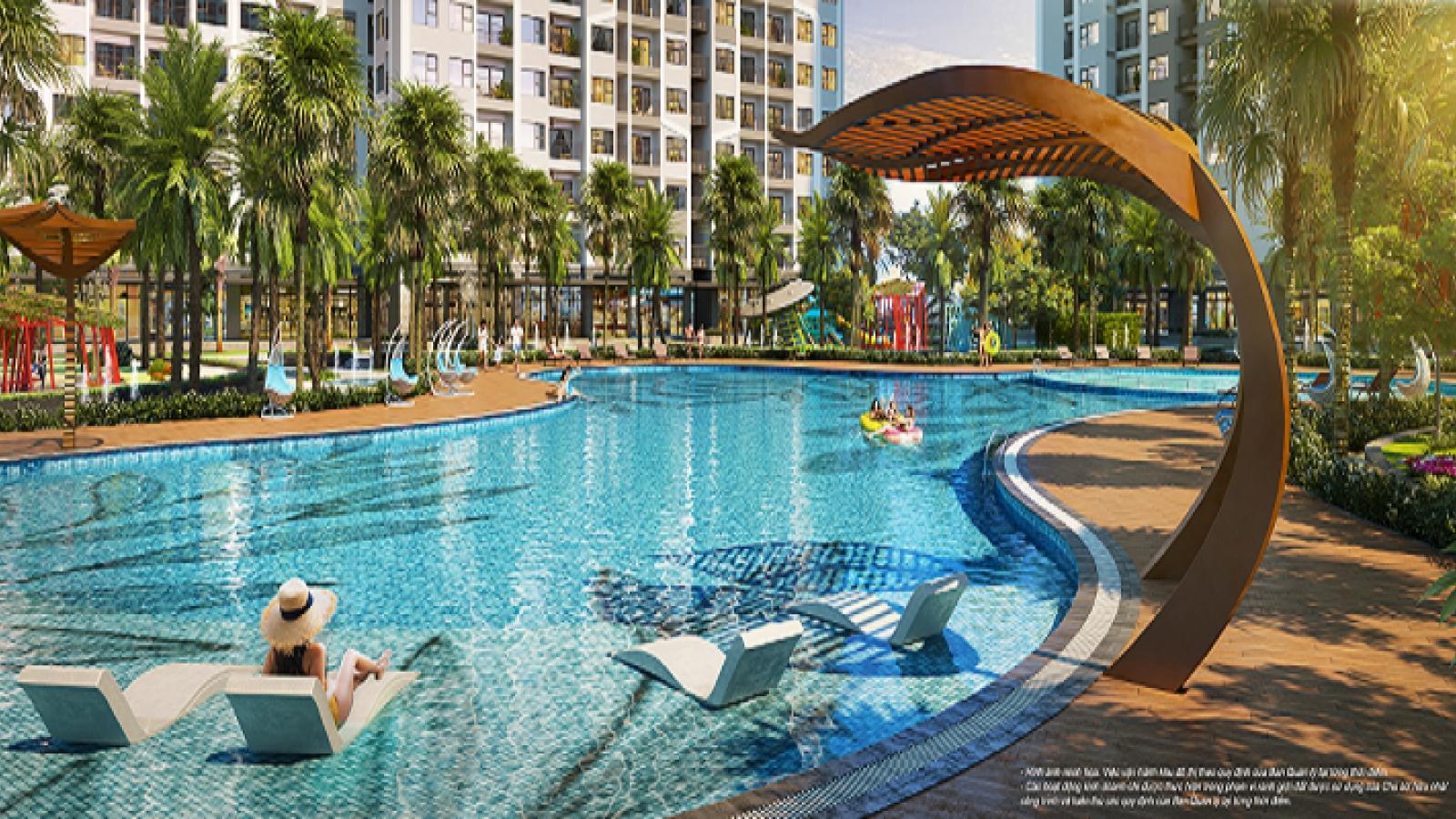 Bể bơi nhiệt đới 1.000 m2 phong cách Mỹ - chuẩn sống nghỉ dưỡng của The Miami