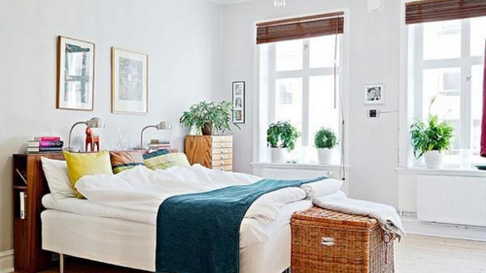 Phòng ngủ thiết kế nhẹ nhàng và yên bình