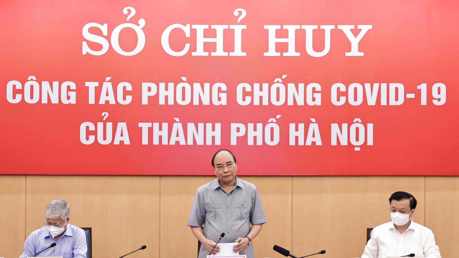 Chủ tịch nước: Hà Nội quyết định giãn cách xã hội rất kịp thời