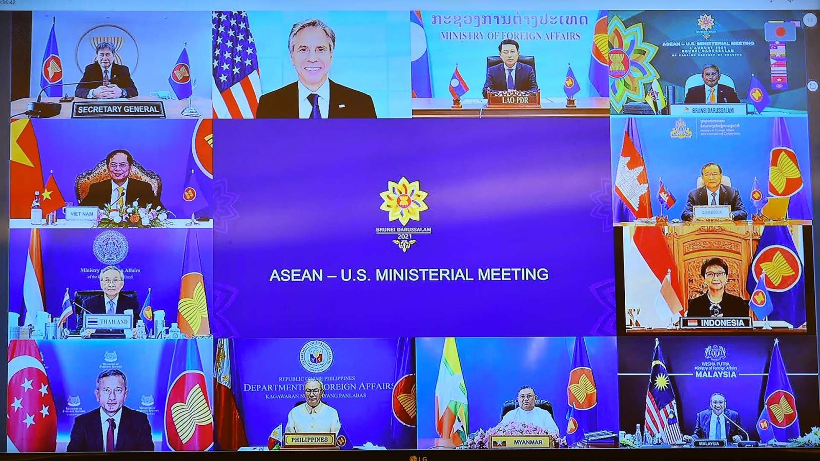 ASEAN-Mỹ phối hợp chặt chẽ duy trì an ninh, an toàn hàng hải ở Biển Đông