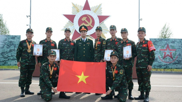 Vietnamese Meridian contingent wins bronze at Army Games 2021
