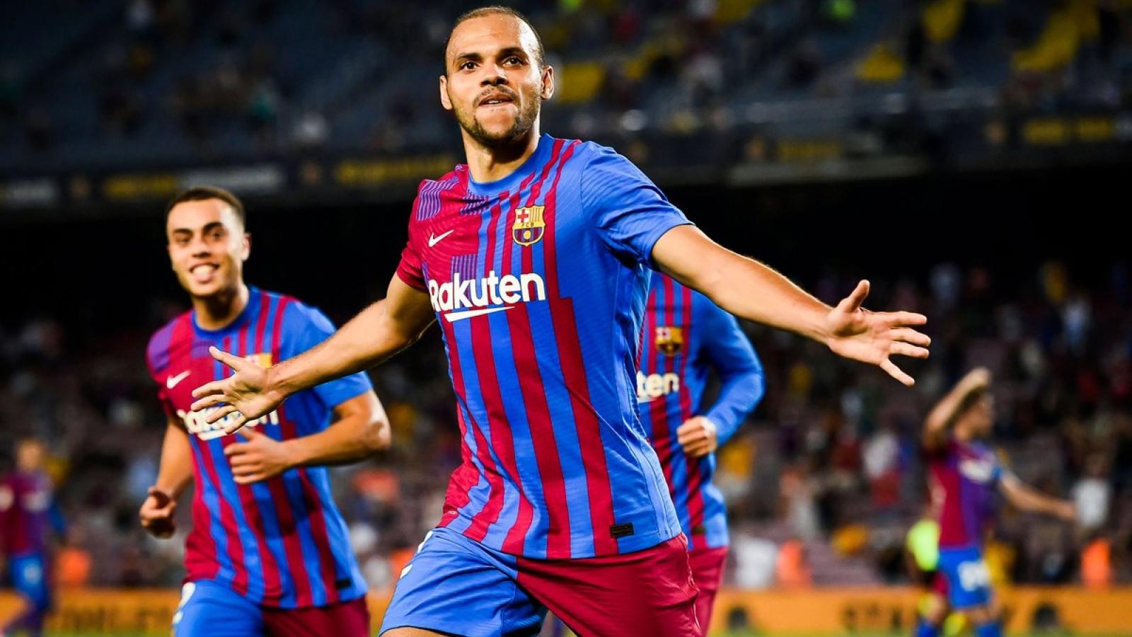 Braithwaite toả sáng như Messi, Barca thắng kịch tính Sociedad