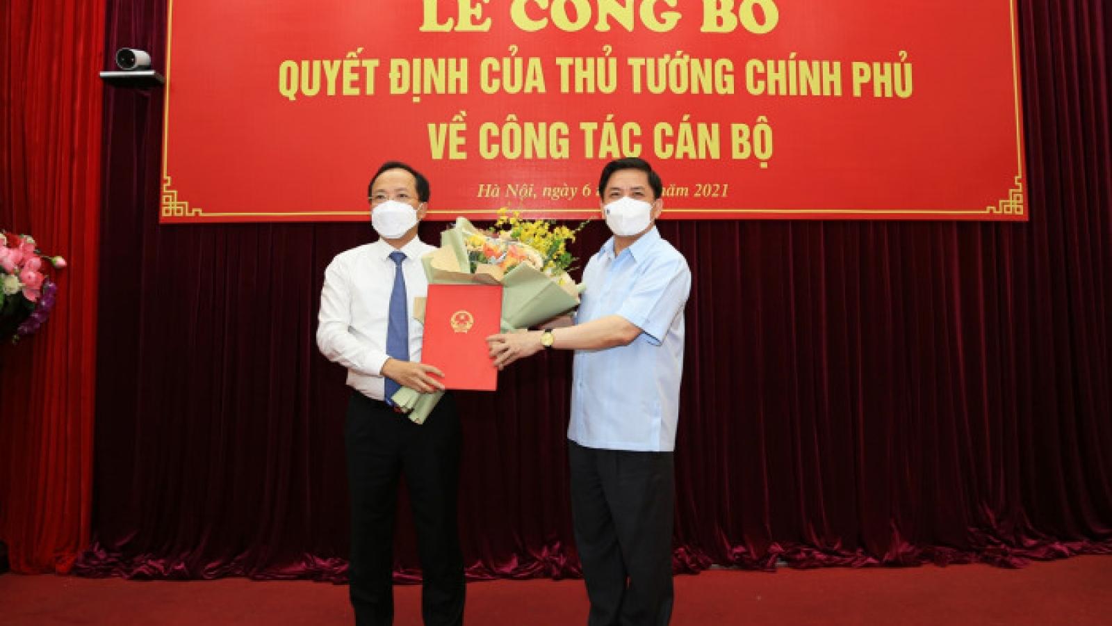 Ông Nguyễn Duy Lâm đượcbổ nhiệm làm Thứ trưởng Bộ GTVT