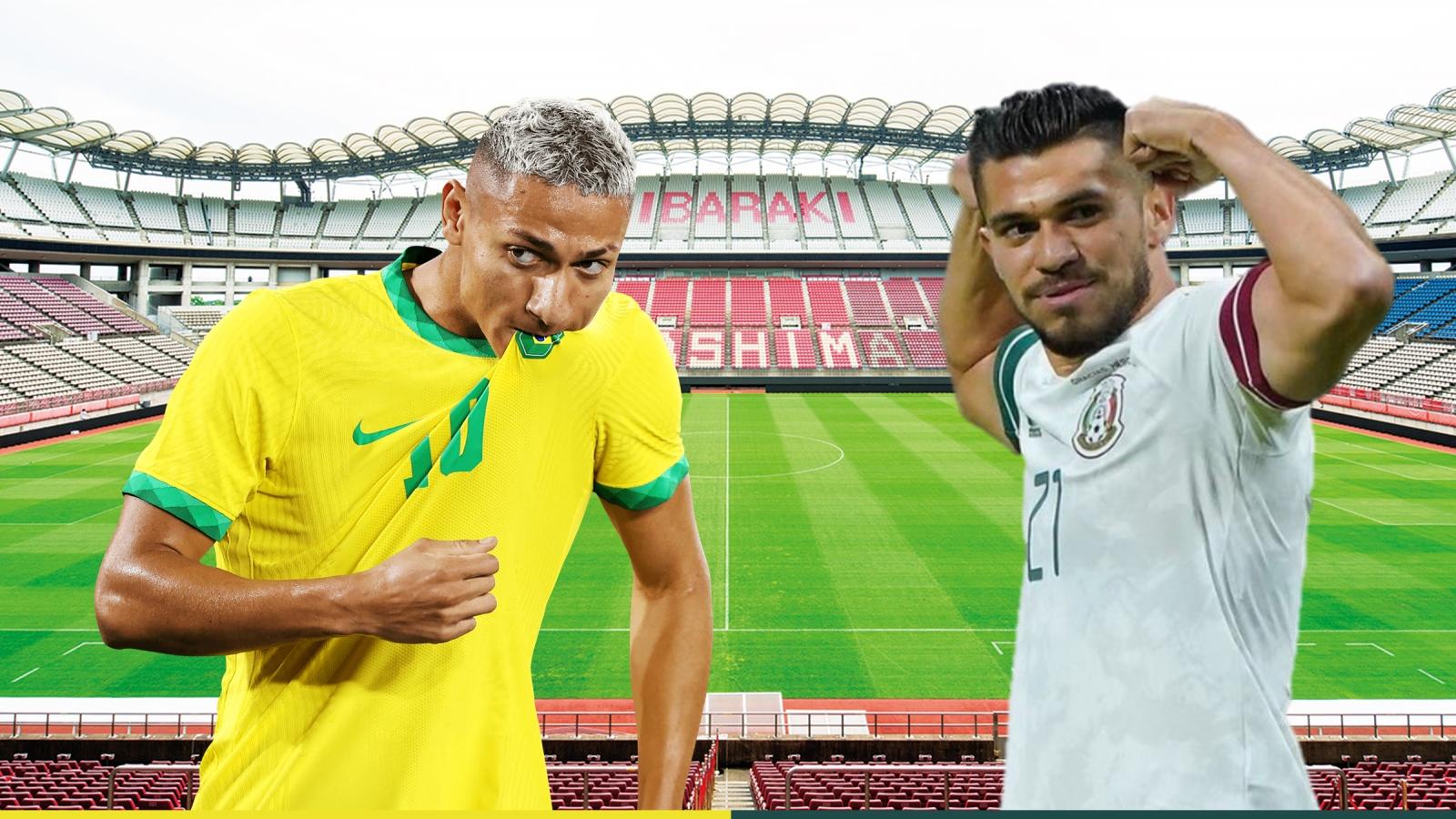 Dự đoán tỷ số, đội hình xuất phát trận Brazil - Mexico