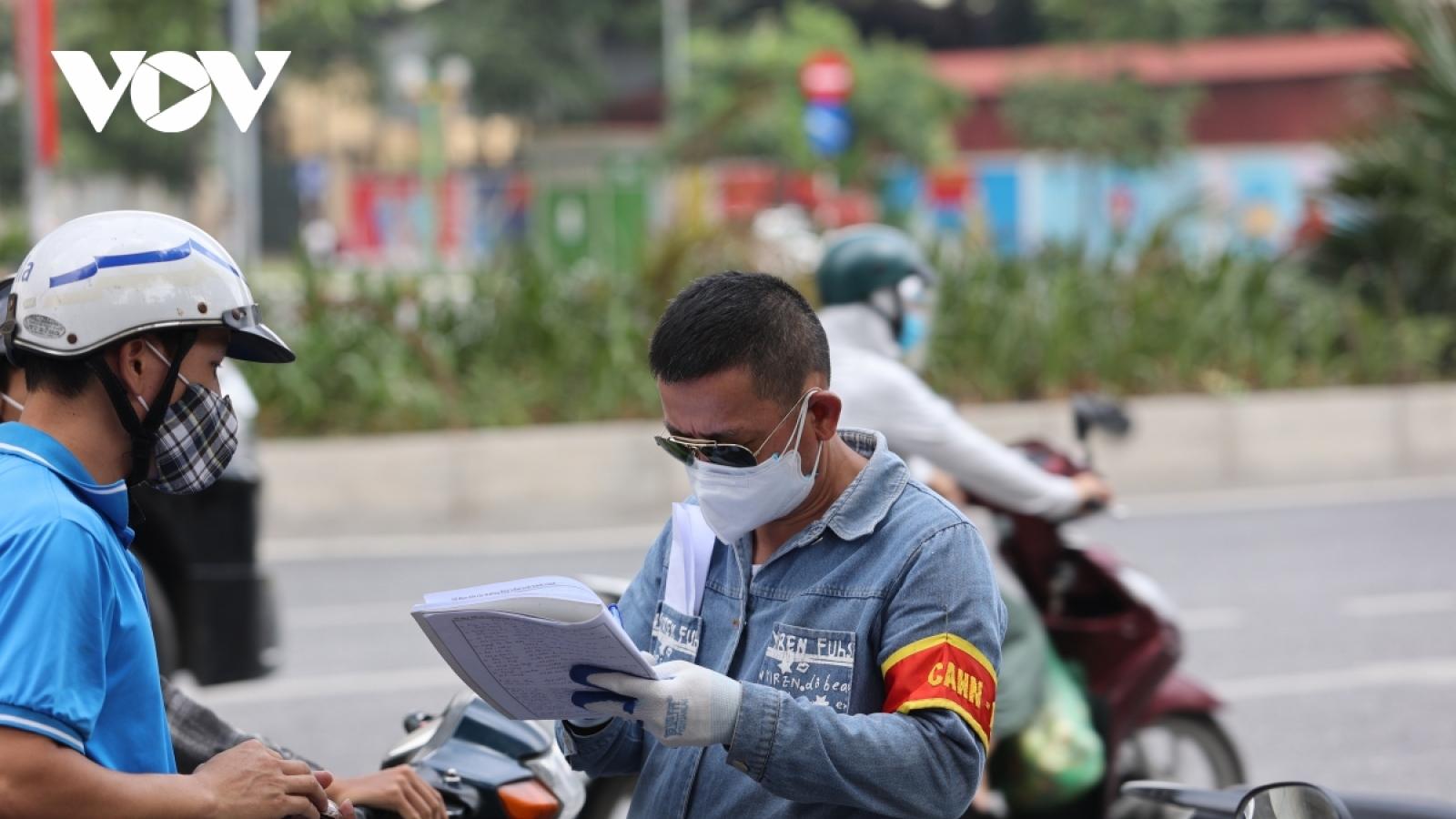 Công an Hà Nội hỏa tốc hướng dẫn cấp giấy đi đường có mã QR