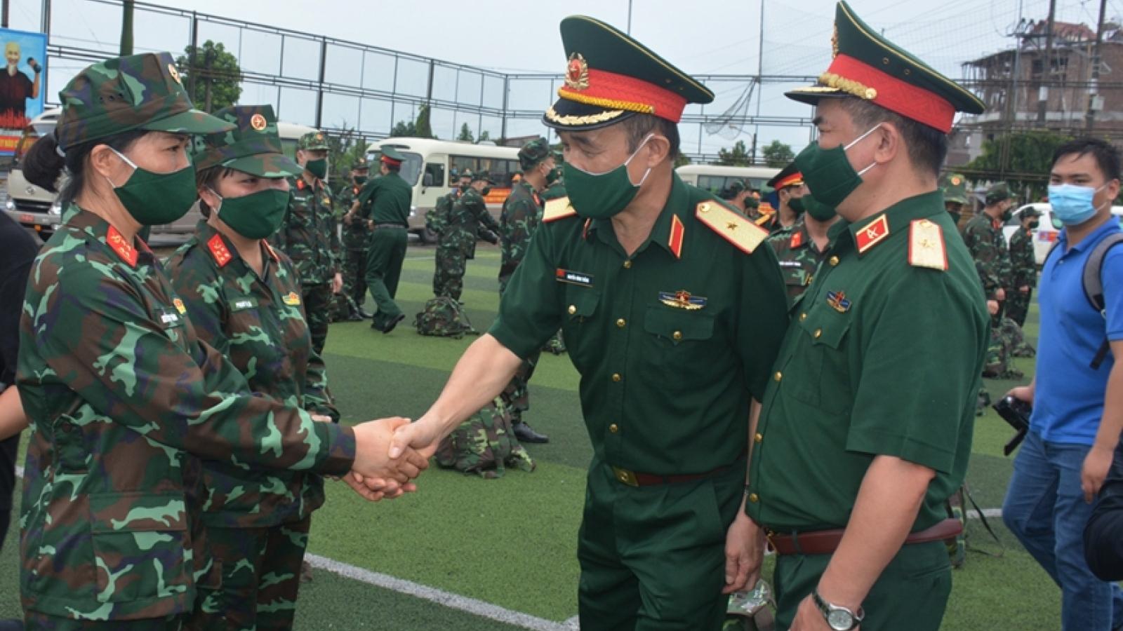 Bộ Quốc phòng đưa BV dã chiến tăng cường chống dịchtại TPHCM và tỉnh Bình Dương