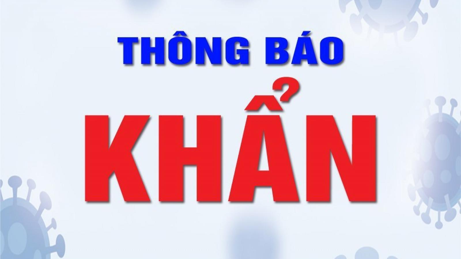 Hà Nội thông báo khẩn tìm người đến phố Thanh Hà - Nguyễn Thiện Thuật