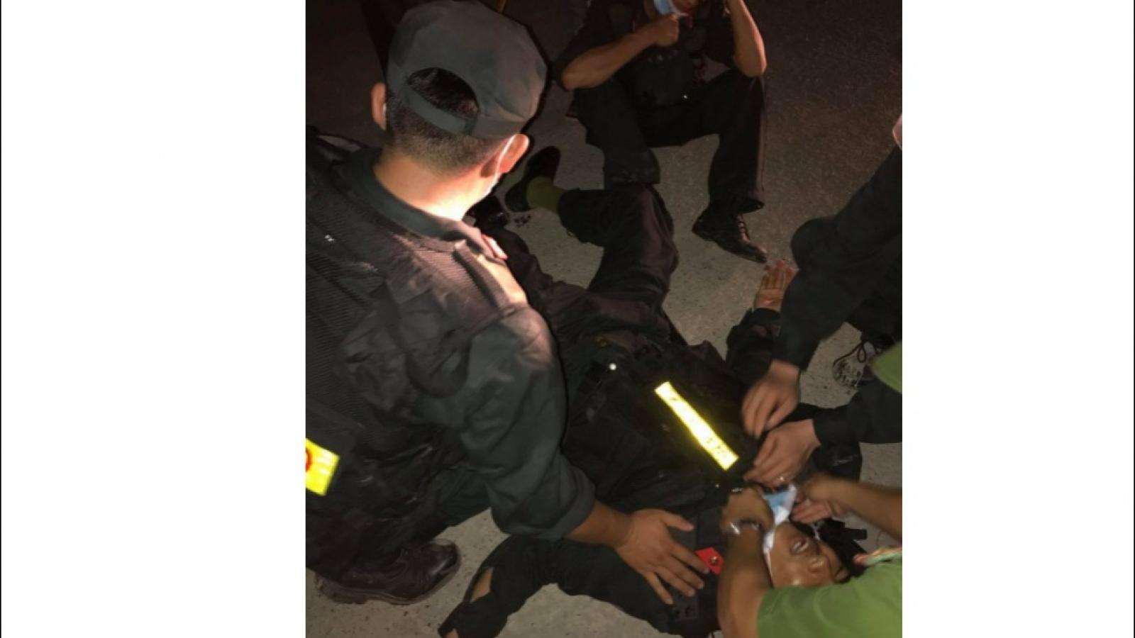 Xảy ra xô xát, 5 chiến sĩ công an bị thương tại Quảng Trị