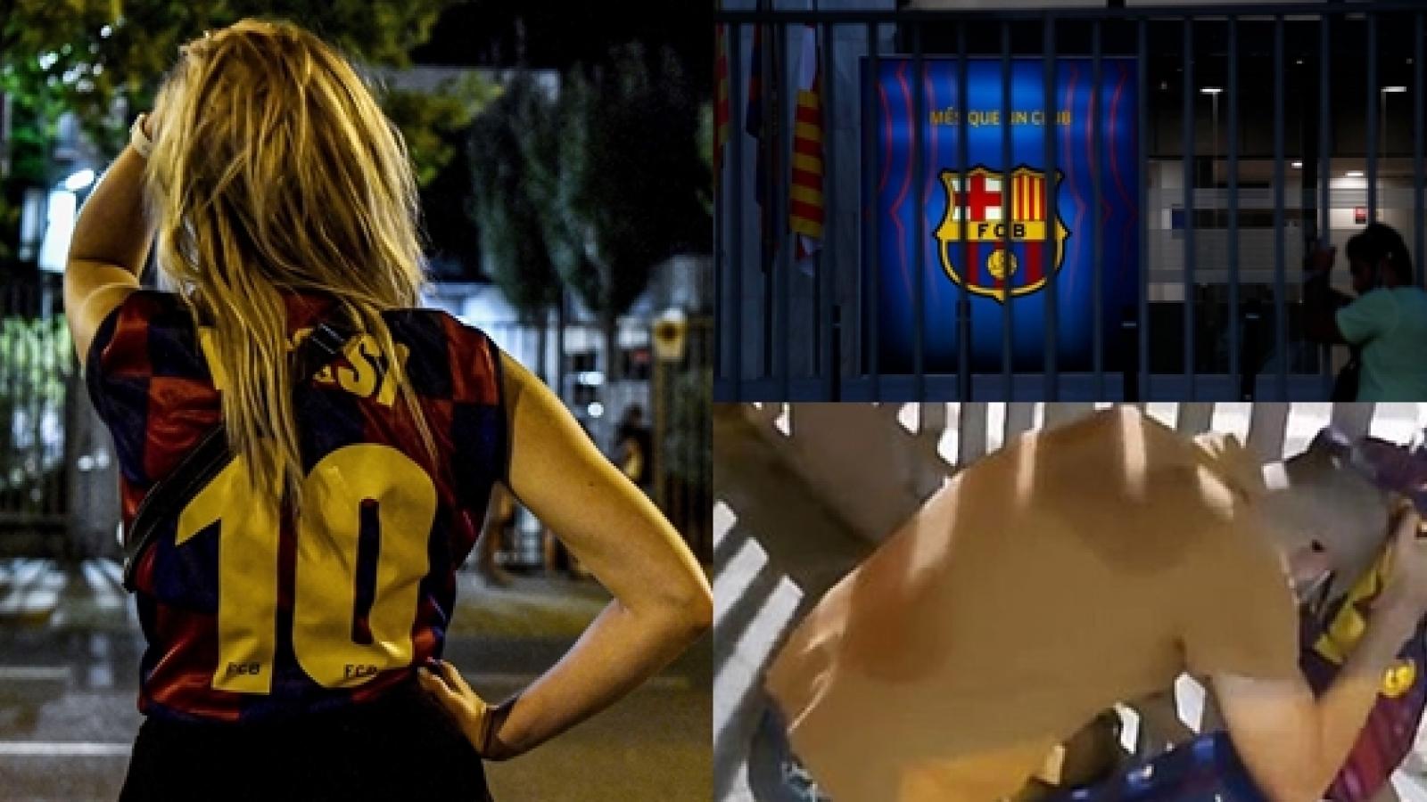 CĐV Barca bật khóc nức nở khi chính thức mất Messi