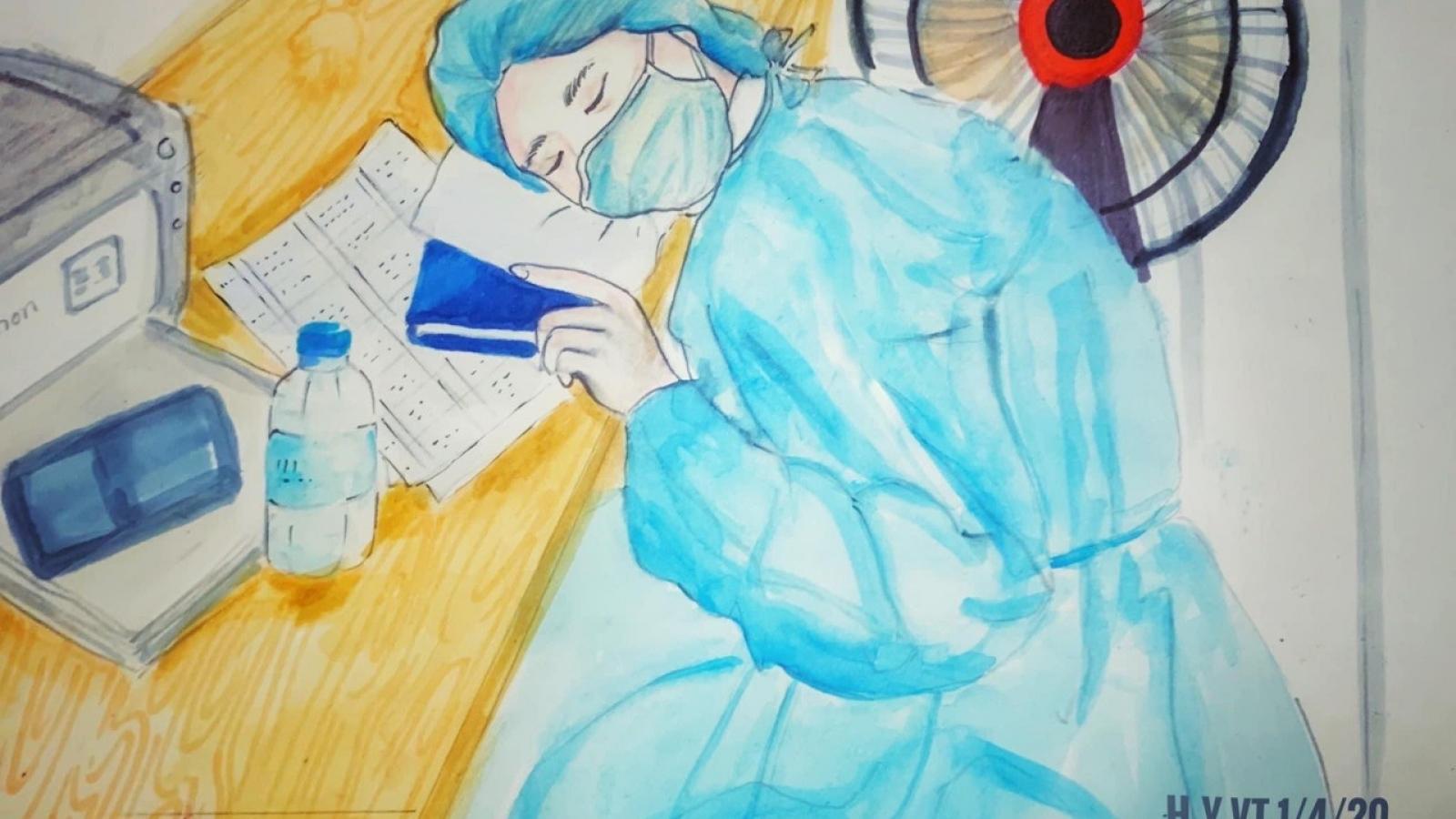 Nhữngbức tranh chống dịch Covid-19 gây sốt trên mạng của cô giáo Vũng Tàu