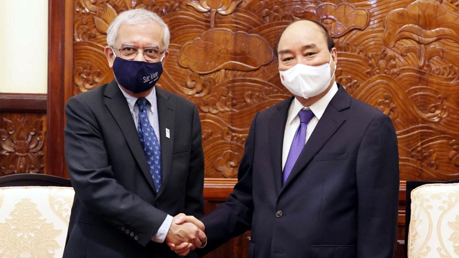 Chủ tịch nước Nguyễn Xuân Phúc tiếp Điều phối viên Liên Hợp Quốc