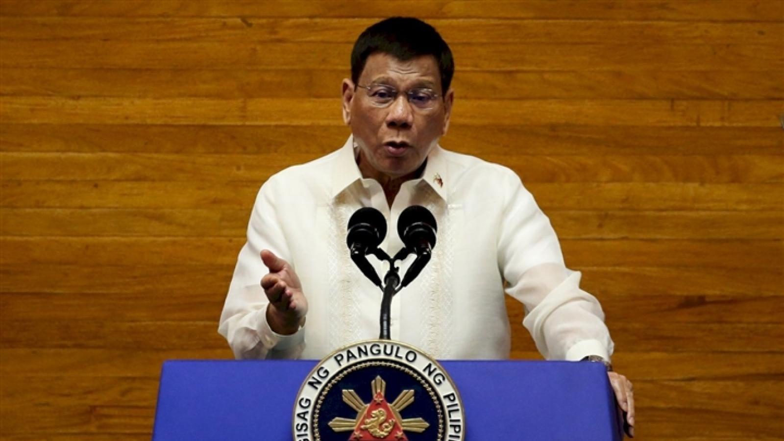 Ông Duterte sẽ tranh cử Phó Tổng thống Philippines năm 2022