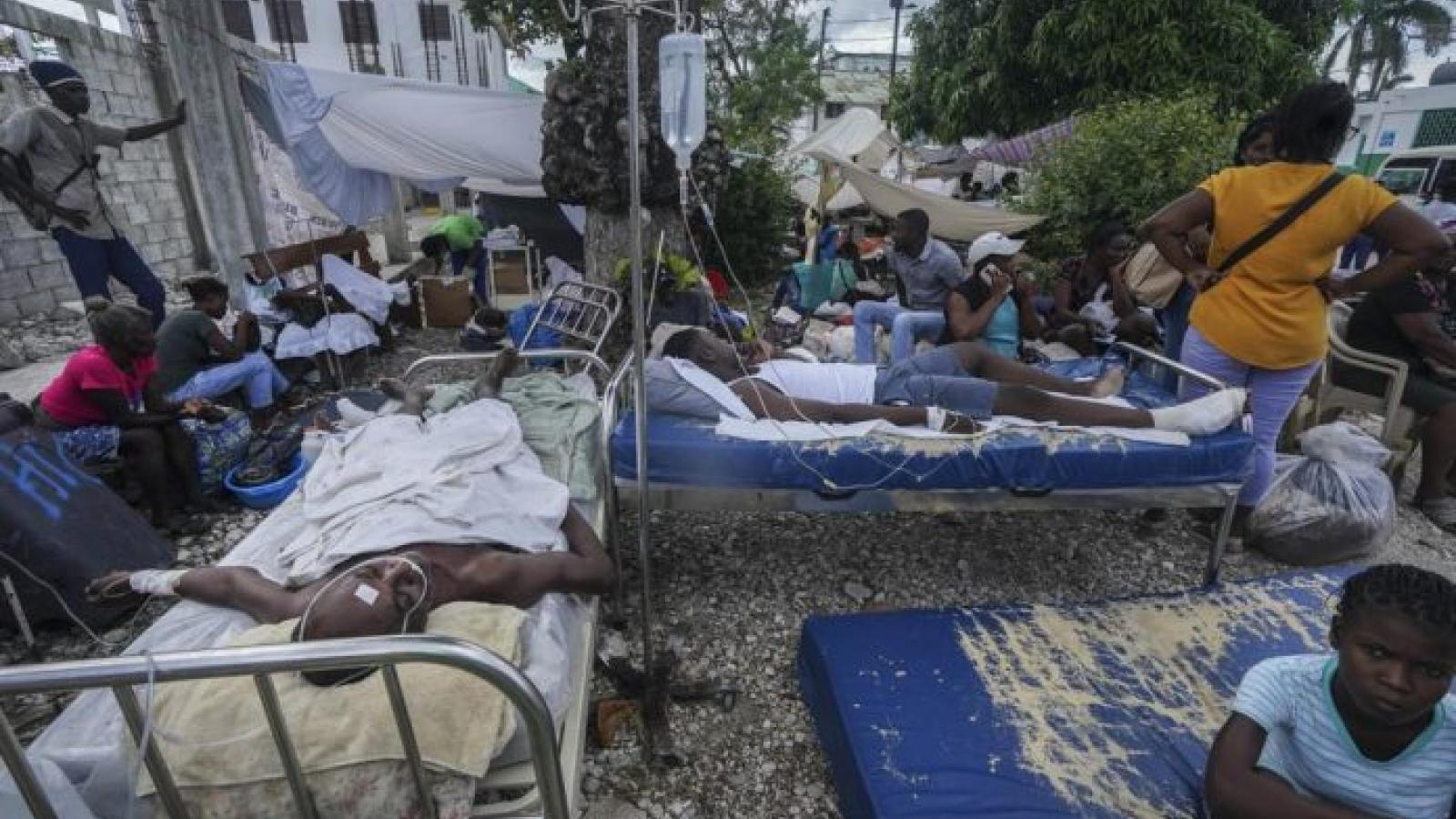 Số người thiệt mạng do động đất tại Haiti tăng lên hơn 2.200 người