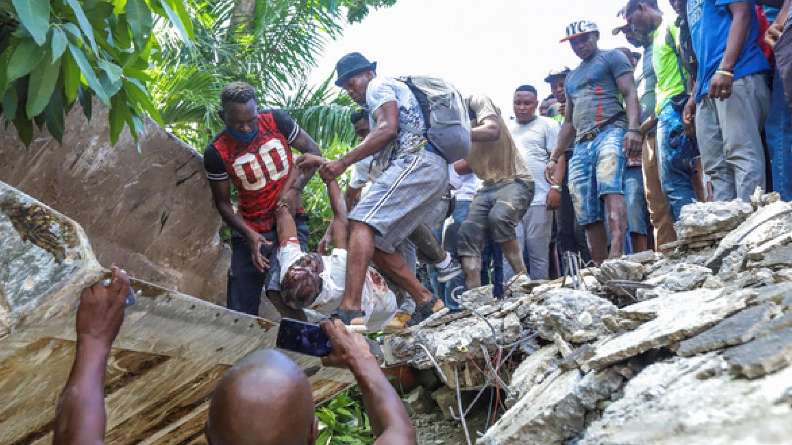 Động đất ở Haiti: Số người chết tăng lên hơn 1.200