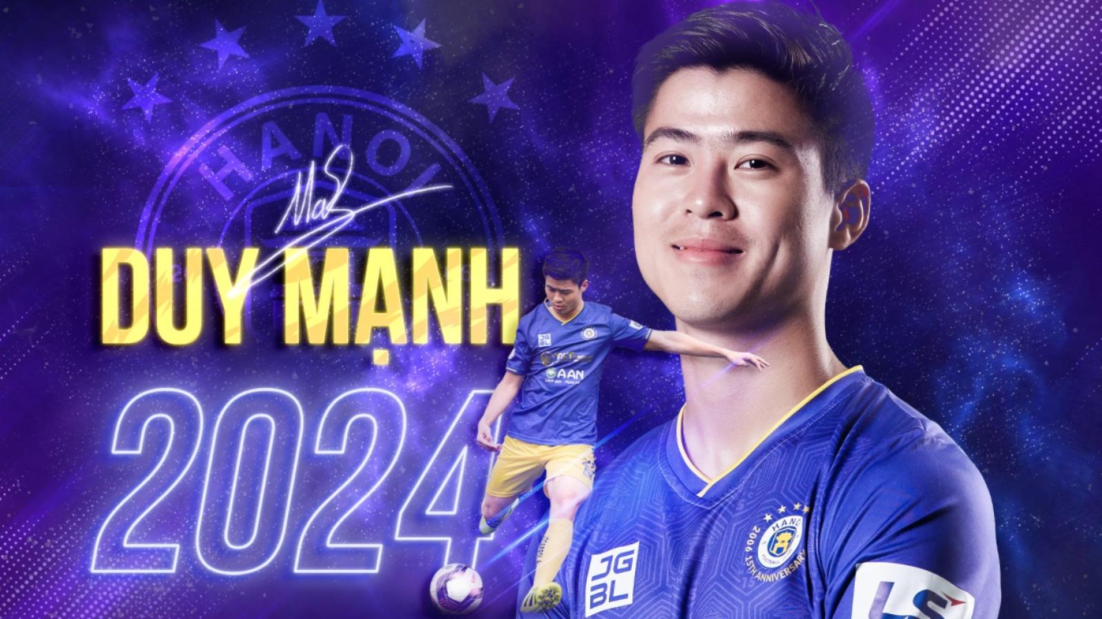Duy Mạnh gia hạn hợp đồng với Hà Nội FC đến năm 2024