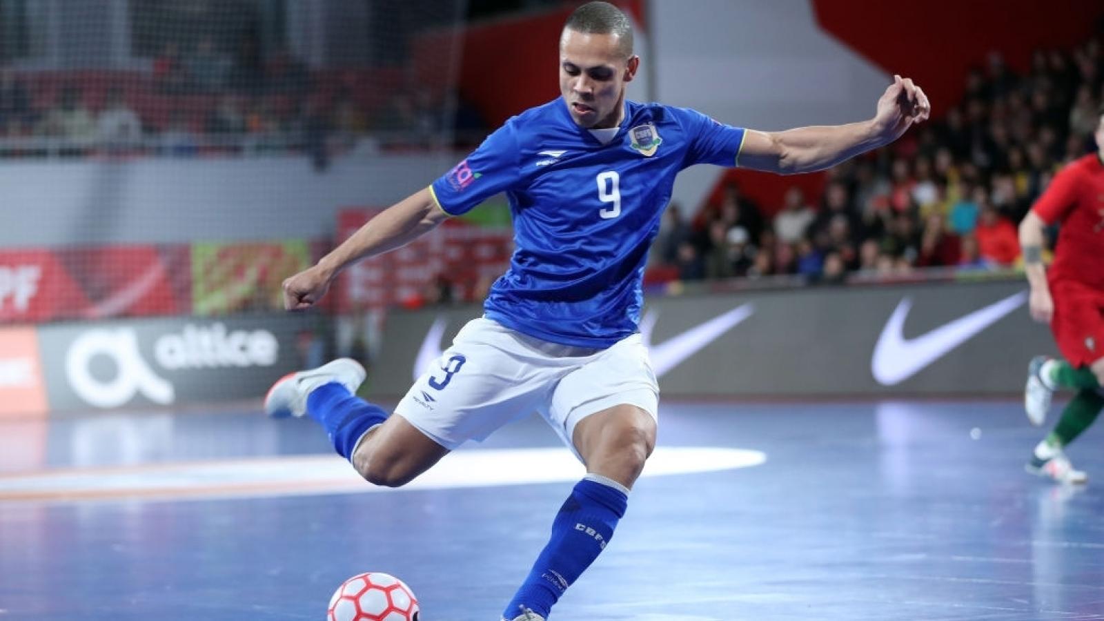 ĐT Futsal Brazil triệu tập siêu sao đấu ĐT Futsal Việt Nam ở Futsal World Cup 2021