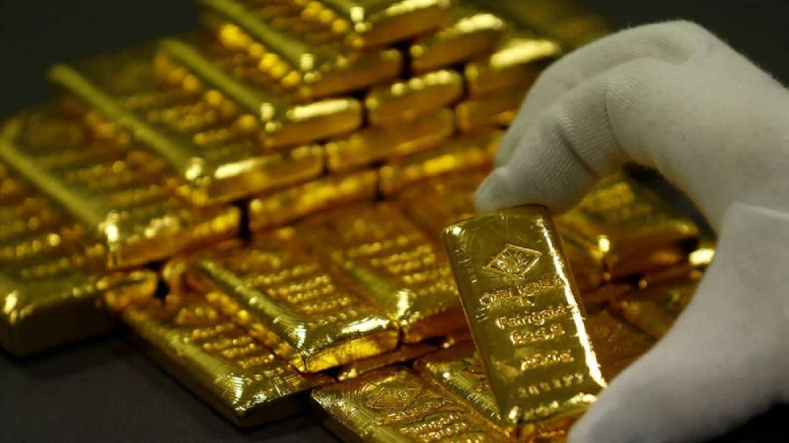 Vàng trong nước vẫn đứng giá, vàng thế giới giảm nhẹ