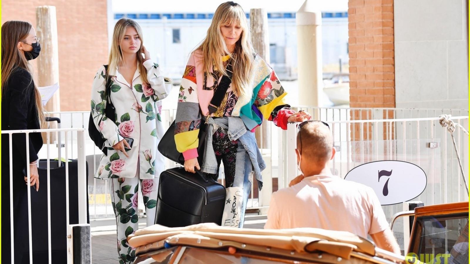 Siêu mẫu áo tắm Heidi Klum tái xuất rạng rỡ bên con gái Leni