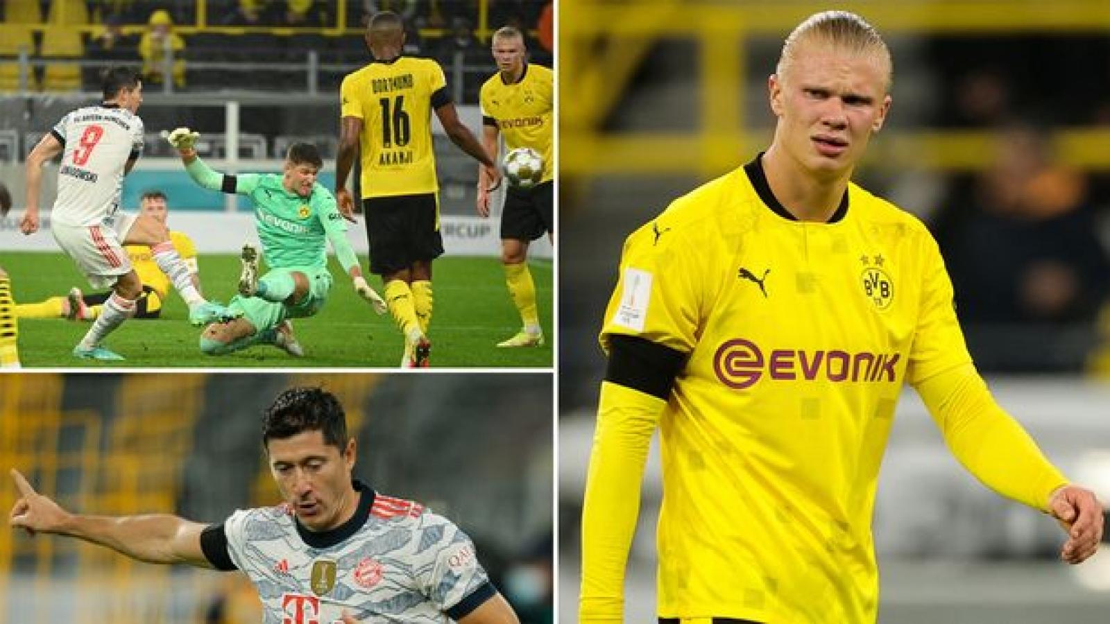 """Haaland thể hiện """"khí chất"""" như Ronaldo... khi Lewandowski ghi bàn"""
