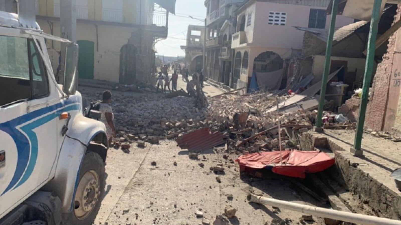 304 người thiệt mạng trong trận động đất 7,2 độ tại Haiti, quốc tế kêu gọi hỗ trợ
