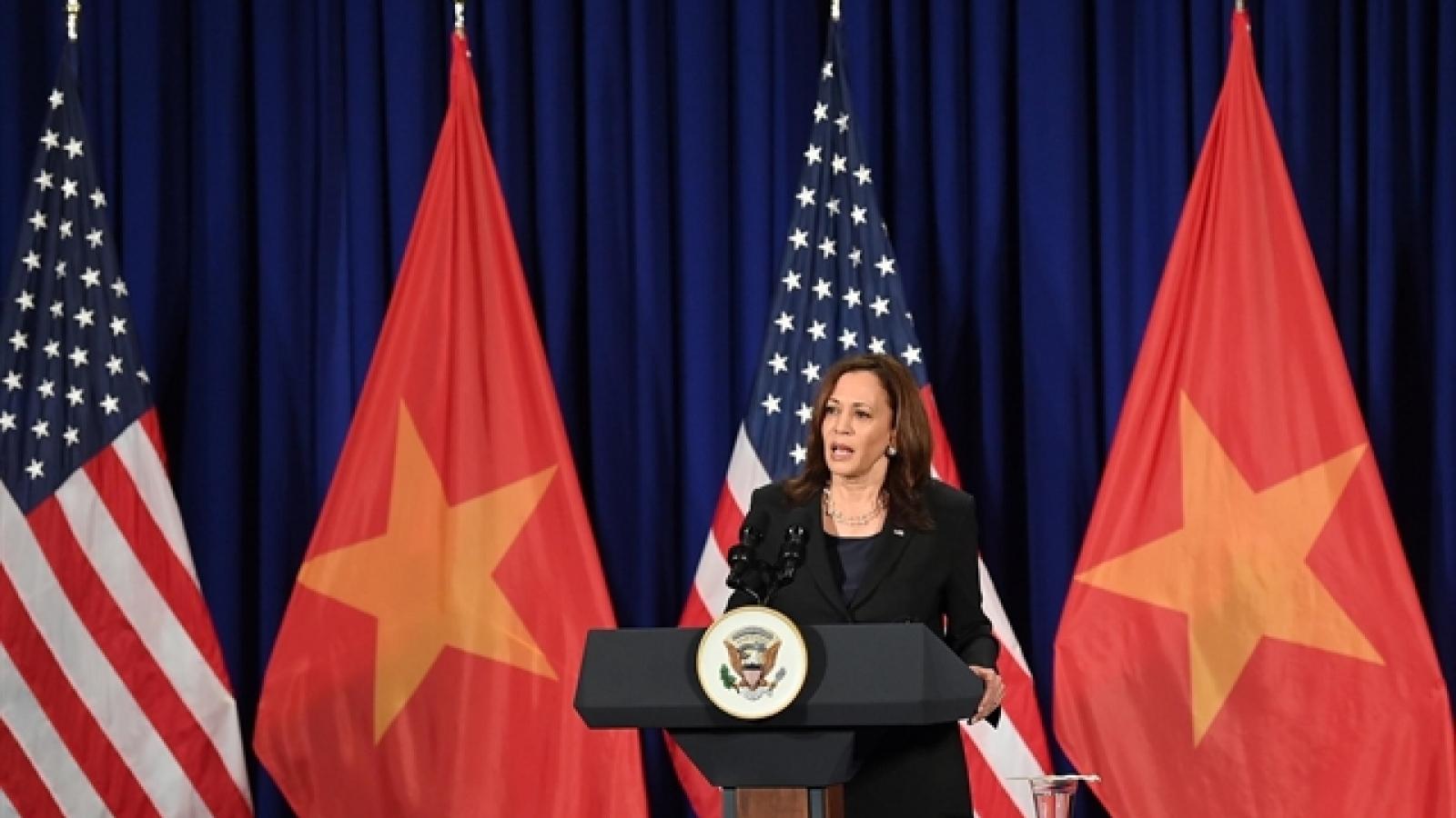 Visit signals new beginning in US-Vietnam relations, says VP Harris