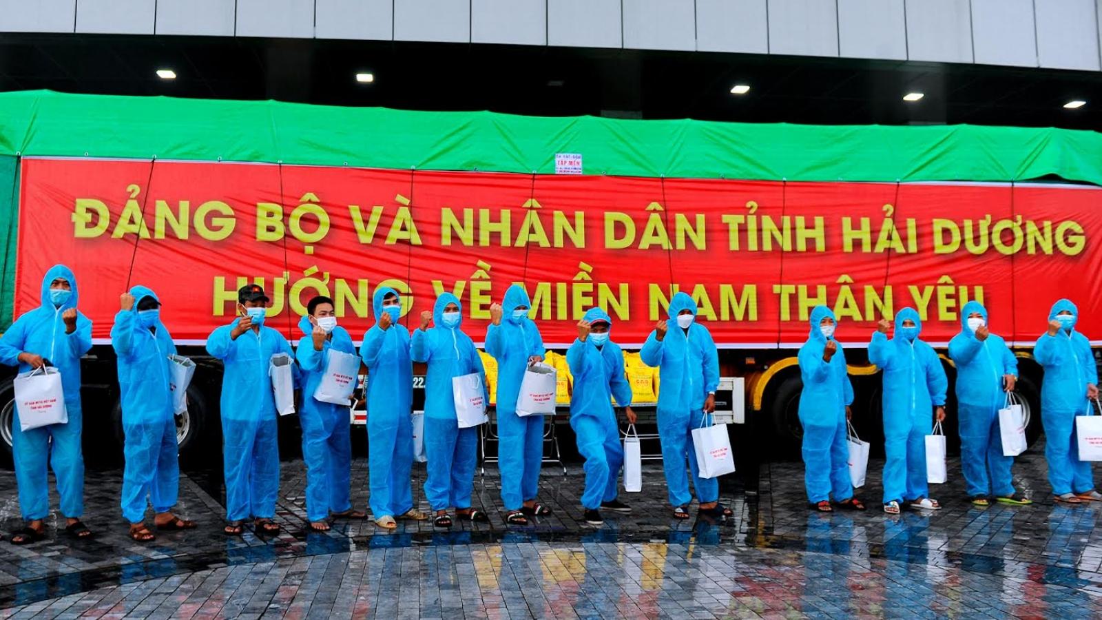 Hải Dương ủng hộ 160 tấn gạo cho các tỉnh, thành phố phía Nam